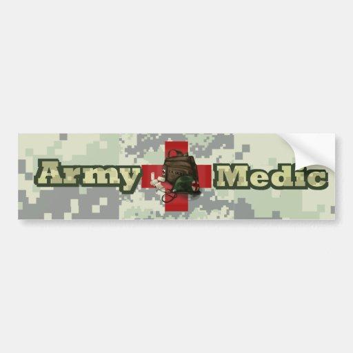 Médico del ejército etiqueta de parachoque