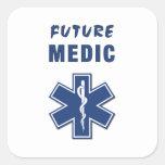 Médico del futuro del paramédico pegatina