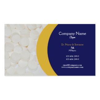 Médico facultativo de las tabletas farmacéuticas tarjetas de visita