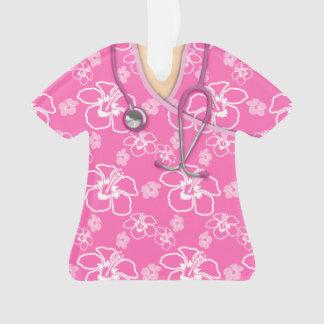 Médico floral del rosa y blanco friega