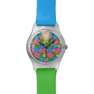 Médico floral tropical friega relojes de mano