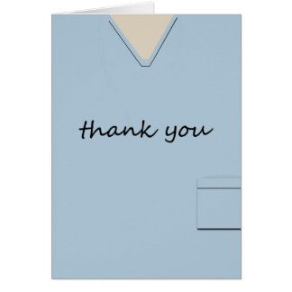 Médico friega al doctor Light-blue Thank You de Tarjeta Pequeña