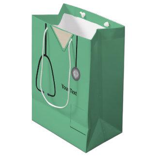 Médico friega el bolso del regalo del MED del Bolsa De Regalo Mediana