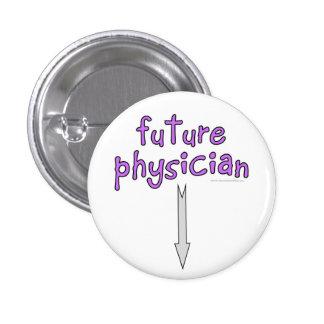 médico futuro pin redondo de 1 pulgada