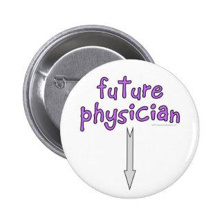 médico futuro pin redondo de 2 pulgadas