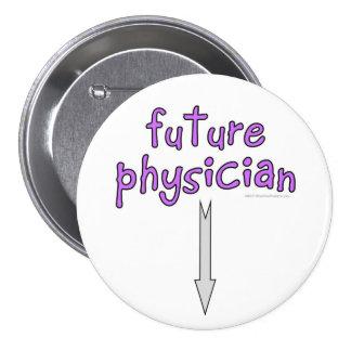 médico futuro pin redondo de 3 pulgadas