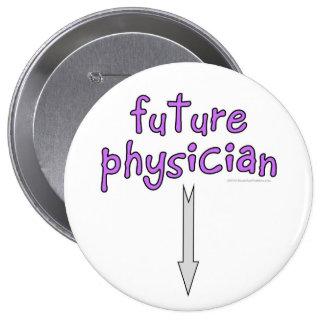 médico futuro pin redondo de 4 pulgadas