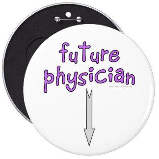 médico futuro pin redondo de 6 pulgadas