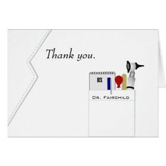 Médico gracias cardar tarjeta pequeña