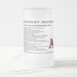 Médico helado del combate de Stein de la cerveza Taza De Cristal