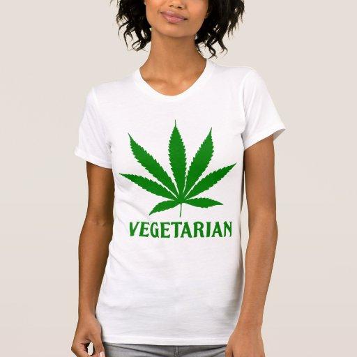 Médico-Marijuana vegetariana del cáñamo de la mari Camiseta