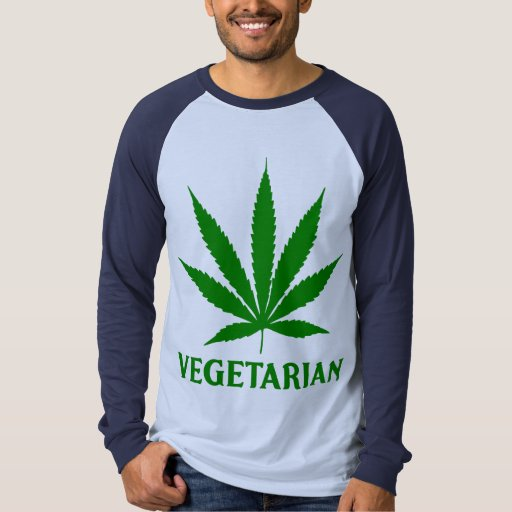 Médico-Marijuana vegetariana del cáñamo de la Playera