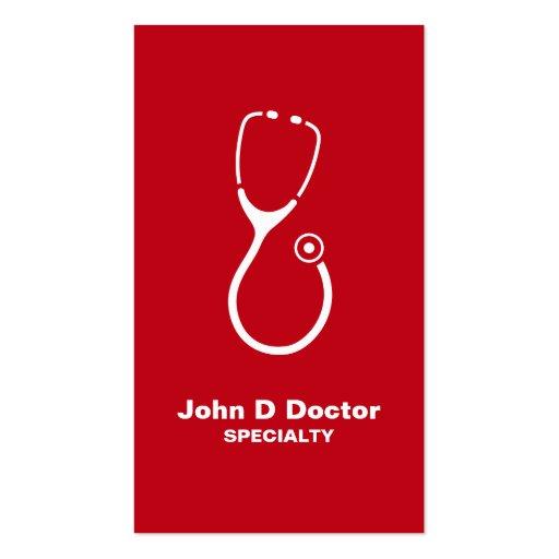 Médico o tarjetas de visita verdes de la atención