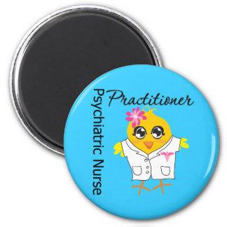 Médico psiquiátrico de la enfermera del polluelo v imán redondo 5 cm