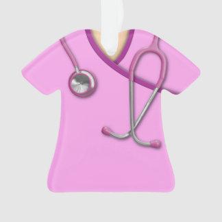Médico rosado friega