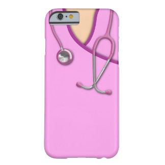 Médico rosado friega funda de iPhone 6 barely there