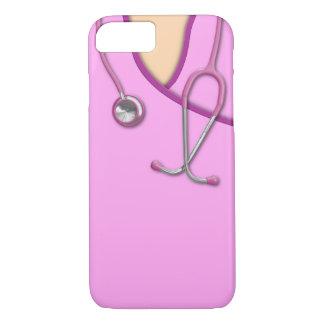 Médico rosado friega funda iPhone 7