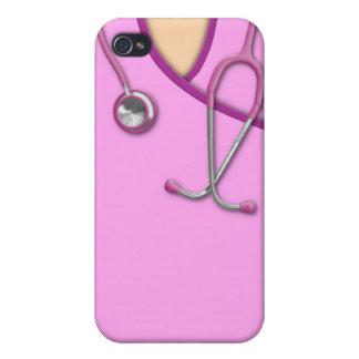 Médico rosado friega iPhone 4/4S fundas