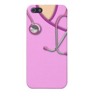 Médico rosado friega iPhone 5 carcasas