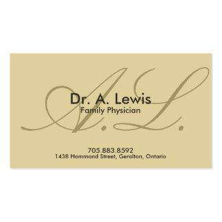 Médico y tarjeta de visita médica - monograma