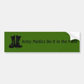 Médicos del ejército pegatina para auto
