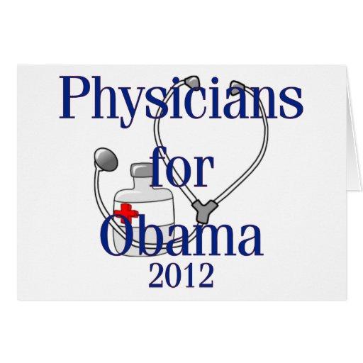 Médicos para las camisetas y los regalos de Obama Tarjetas