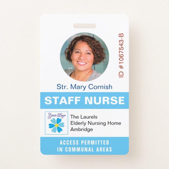 Medics ID Name Tag, Job Title and Logo Photo Badge