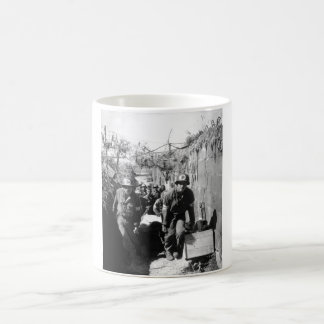 Medics remove a casualty from the_War Image Coffee Mug