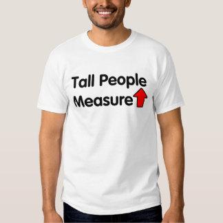 Medida de la gente alta para arriba remeras
