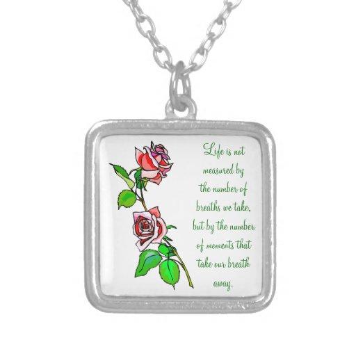 Medida de los rosas de vida joyerías