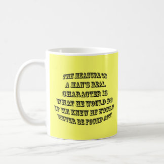 Medida de un hombre taza