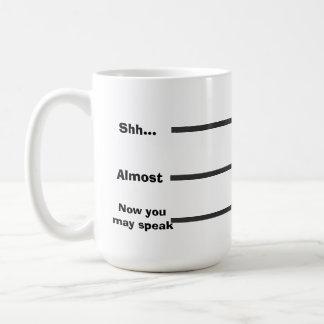 Medida del café taza de café