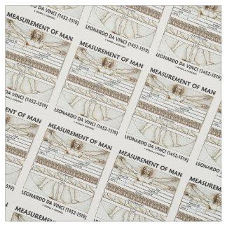 Medida del hombre da Vinci de Vitruvian del hombre Telas