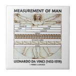 Medida del hombre (hombre da Vinci de Vitruvian) Teja Ceramica