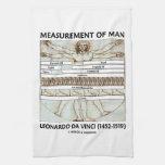 Medida del hombre (hombre da Vinci de Vitruvian) Toallas