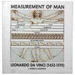Medida del hombre (hombre da Vinci de Vitruvian) Servilleta