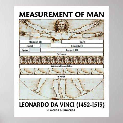 Medida del hombre (hombre) de Vitruvian da Vinci Poster