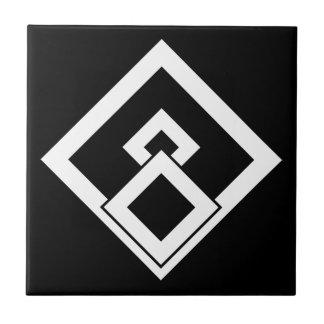 Medida enselvada quebrada azulejo cuadrado pequeño