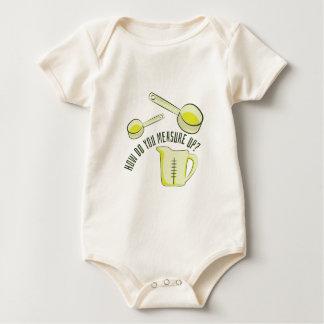Medida para arriba body de bebé