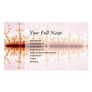 Medida sísmica - arte del fractal tarjetas de visita