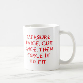 Medida y fuerza taza de café