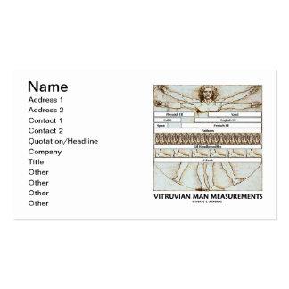 Medidas del hombre de Vitruvian (da Vinci) Tarjetas De Visita