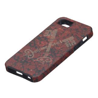 Medieval 21st keys against dark red marble iPhone SE/5/5s case