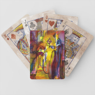 MEDIEVAL ALLEY BY NIGHT IN FLORENCE BICYCLE PLAYING CARDS
