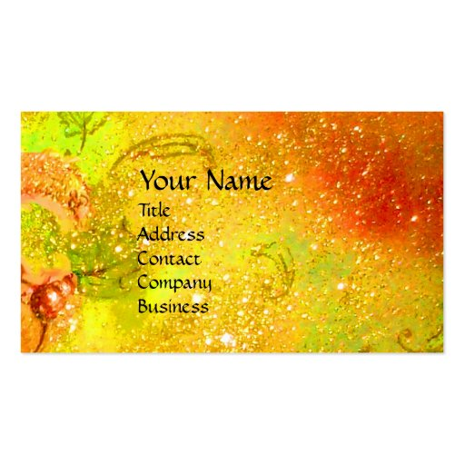 MEDIEVAL ALLEY BY NIGHT IN FLORENCE BUSINESS CARD TEMPLATE