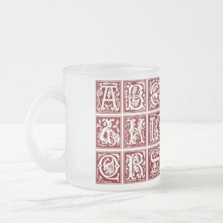 Medieval Alphabet  - Frosted Mug