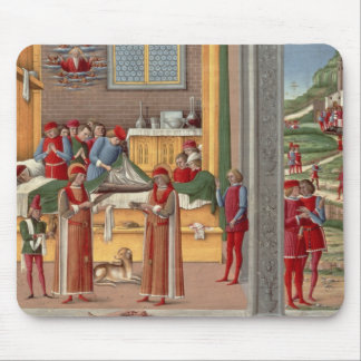 Medieval amputation scene mouse pads