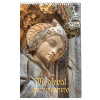 Medieval architecture wall calendars