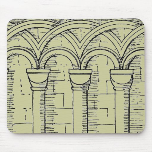 Medieval Architecture Mouse Pad