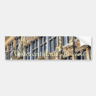 Medieval architecture of Grand place in Brussels Car Bumper Sticker